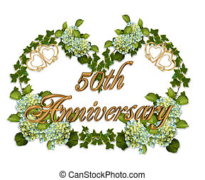 50th Anniversary Ivy and Hydrangea - Ivy, Hydrangea flowers...