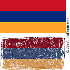 Armenian grunge flag. Vector illustration.