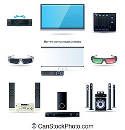 Home cinema entertainment set - Home cinema entertainment...