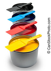 Printing inks on white background - Printing inks isolated...