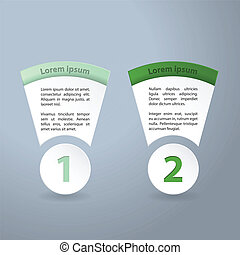 Infographic design with text or product