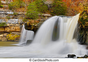 The Upper Cataract - Indianas Upper Cataract Falls pours...