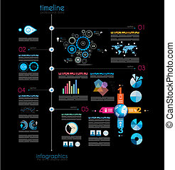 Timeline to display your data in order with Infographic...