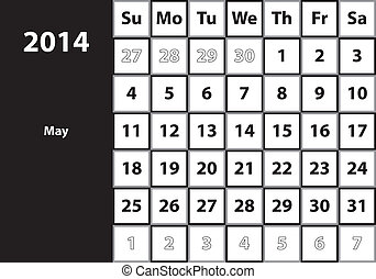 May 2014 HUGE monthly calendar