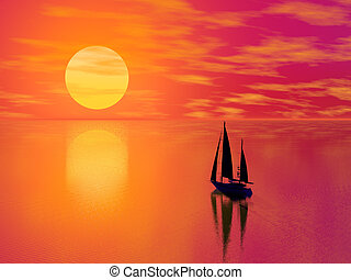 Red Sunset boat