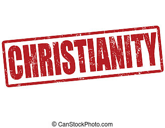 Christianity stamp - Christianity grunge rubber stamp on...