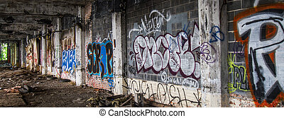 Detroit Abandoned Building - Graffiti