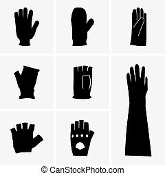 Gloves - Set of glove icons