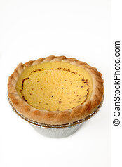 Egg custard tart - British style egg custard tart sprinkled...