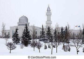 Wintery Baitun Nur Mosque. - Baitun Nur Mosque, Calgary...