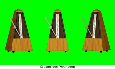 Metronome on green screen