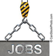 jobs - 3d rendering of a job concept