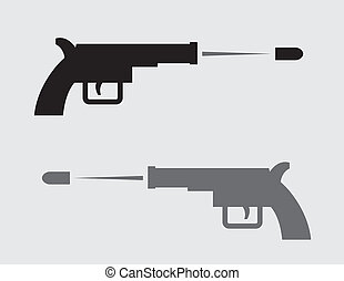Gun Silhouette Shooting
