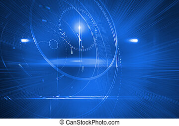 Futuristic shiny circles - Digitally generated futuristic...