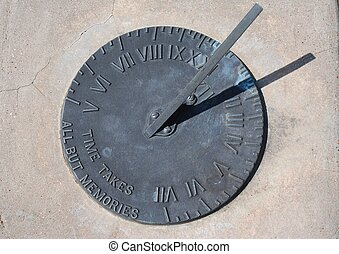 solar clock showing time under the sun