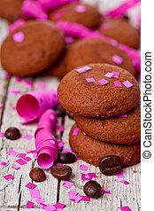 frais, chocolat, biscuits, café, haricots, rose,...