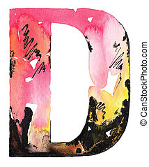 handmade watercolor alphabet design - original handmade...