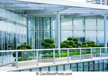 Penthouse garden - Rooftop penthouse apartment terrace with...