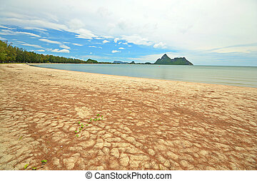 Ao Manao, Thailand - Low tide in the beautiful bay of Manao...
