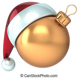 Xmas ball Happy New Year Santa hat
