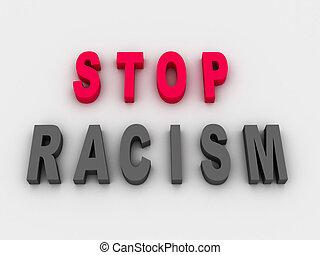 3d imagen, Stop Racism Concept
