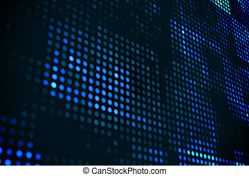 Futuristic dotted blue and black background