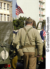 US GI during a commemorative day in France