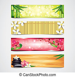 Spa vector banners set