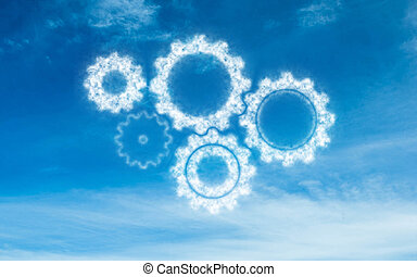 White cogs in the sky