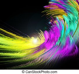 abstract colorful fractal fluffy wave