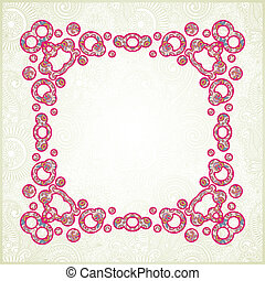 Pink ornamental pattern