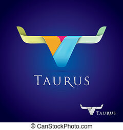 Taurus - Luxurious and beautifully stylized taurus sign icon