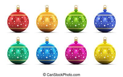 Set of color Christmas balls