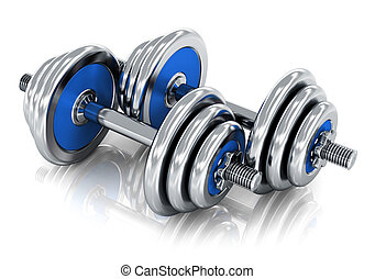 Dumbbells - Creative abstract sport, fitness training and...