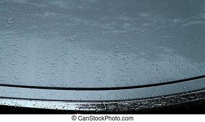 Freshly Waxed Car Hood in the Rain - Silver Freshly Waxed...