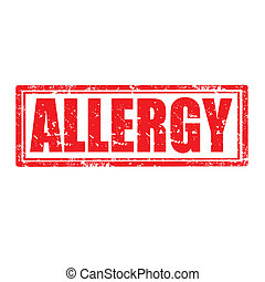 Allergy-stamp - Grunge rubber stamp with word Allergy,vector...