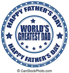 Happy Father's Day-stamp