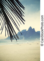 Rio de Janeiro Ipanema Beach Brazil with Two Brothers Dois...