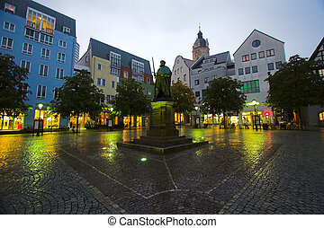 Jena Square - The main market square in Jena, Germany