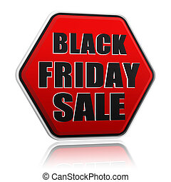 black friday sale red black hexagon banner - black friday...