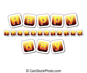 happy thanksgiving day in yellow brown cards - text happy...