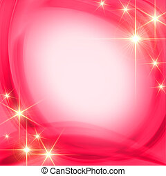 shining stars over pink background - shining golden stars...