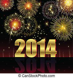 Felice, nuovo, anno, 2014