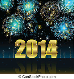 Happy New Year 2014 - Illustration vector background, Happy...