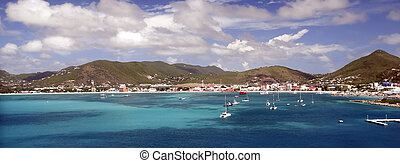 St Martin Bay Banner - Banner Image of Capitol City of...