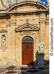 St Paul Church Door - Door of the St Paul church in Rabat in...