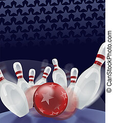bowling - Bowling Ball knocked down all ten pins