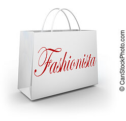 Fashionista Shopping Bag Buying Clothes Store Sale -...