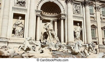 Trevi Fountain in Rome - The famous Trevi Fountain in Rome,...