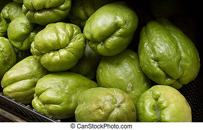 chokos - chayote also known as christophene or christophine,...